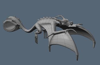 Полигональная модель дракона