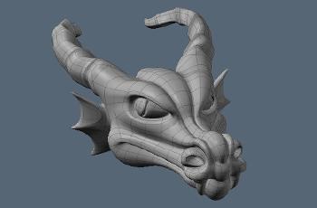 Моделирование головы дракона