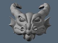 3d модель головы дракона