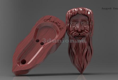 Резной футляр для Кумуса. 3D модель.