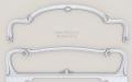 Полигональная сетка спинки кровати. 3D модель.